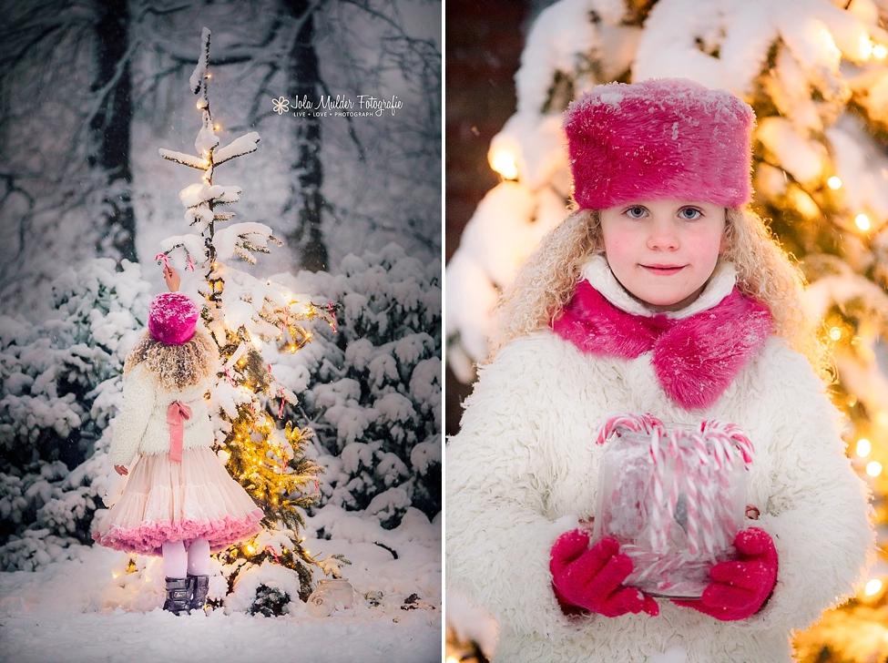 Kindershoot in de sneeuw